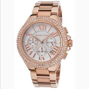MICHAEL KORS | Jeweled Rose Gold Watch